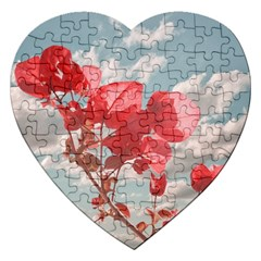 Flowers In The Sky Jigsaw Puzzle (heart)