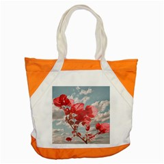 Flowers In The Sky Accent Tote Bag
