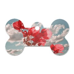 Flowers In The Sky Dog Tag Bone (Two Sided)