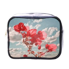 Flowers In The Sky Mini Travel Toiletry Bag (one Side)