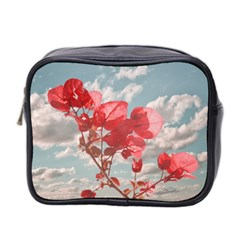 Flowers In The Sky Mini Travel Toiletry Bag (two Sides)