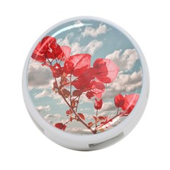 Flowers In The Sky 4 Port Usb Hub (two Sides)