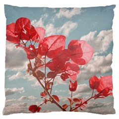 Flowers In The Sky Large Cushion Case (two Sided)