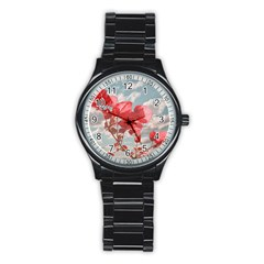 Flowers In The Sky Sport Metal Watch (black)