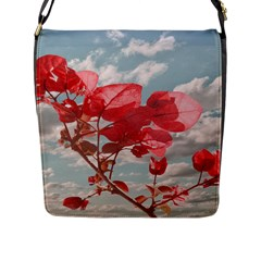 Flowers In The Sky Flap Closure Messenger Bag (large)