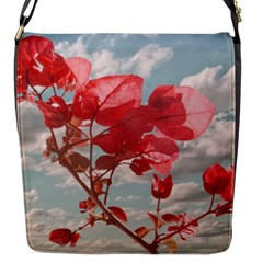 Flowers In The Sky Flap Closure Messenger Bag (Small)