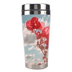 Flowers In The Sky Stainless Steel Travel Tumbler