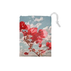 Flowers In The Sky Drawstring Pouch (Small)