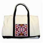 Fashion Girl Two Toned Tote Bag Front