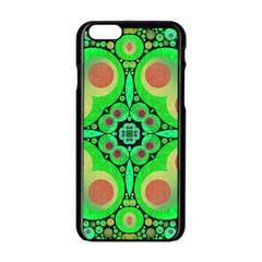 Neon Green  Apple iPhone 6 Black Enamel Case
