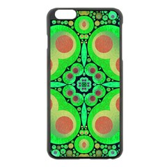 Neon Green  Apple Iphone 6 Plus Black Enamel Case