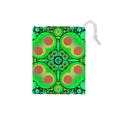 Neon Green  Drawstring Pouch (Small)