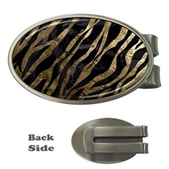 Gold Zebra  Money Clip (oval)
