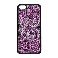 Pink Leopard  Apple Iphone 5c Seamless Case (black)