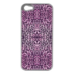 Pink Leopard  Apple Iphone 5 Case (silver)