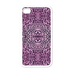 Pink Leopard  Apple Iphone 4 Case (white)