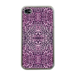 Pink Leopard  Apple Iphone 4 Case (clear)