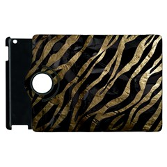 Gold Zebra  Apple iPad 3/4 Flip 360 Case