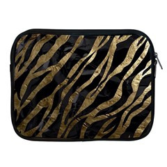 Gold Zebra  Apple Ipad Zippered Sleeve