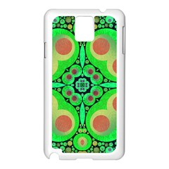 Neon Green  Samsung Galaxy Note 3 N9005 Case (White)