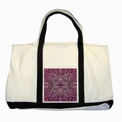 Pink Leopard  Two Toned Tote Bag