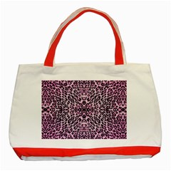 Pink Leopard  Classic Tote Bag (red)