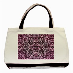 Pink Leopard  Twin-sided Black Tote Bag