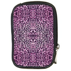 Pink Leopard  Compact Camera Leather Case