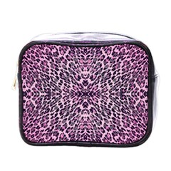 Pink Leopard  Mini Travel Toiletry Bag (one Side)
