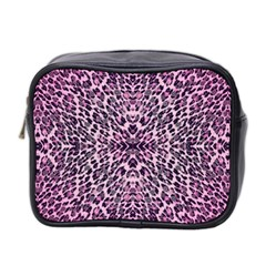Pink Leopard  Mini Travel Toiletry Bag (two Sides)