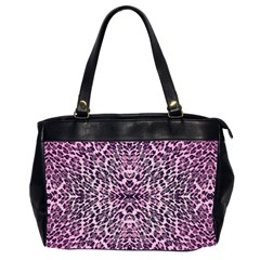 Pink Leopard  Oversize Office Handbag (two Sides)