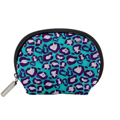 Turquoise Cheetah Accessory Pouch (Small)