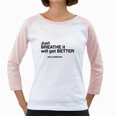 Just Bresthe Women s Long Cap Sleeve T-Shirt (White)