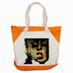 Woman With Attitude Grunge  Accent Tote Bag