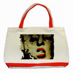 Woman With Attitude Grunge  Classic Tote Bag (red)