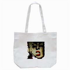 Woman With Attitude Grunge  Tote Bag (White)