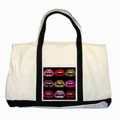 Bling Lips  Two Toned Tote Bag