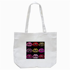 Bling Lips  Tote Bag (White)