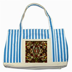 Crazy Abstract  Blue Striped Tote Bag