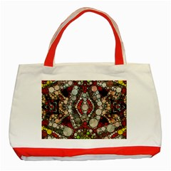 Crazy Abstract  Classic Tote Bag (Red)