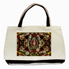 Crazy Abstract  Twin Sided Black Tote Bag