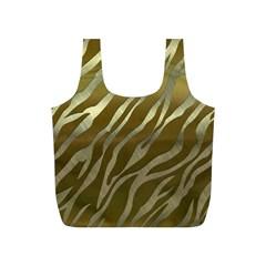 Metal Gold Zebra  Reusable Bag (S)