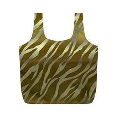 Metal Gold Zebra  Reusable Bag (M)