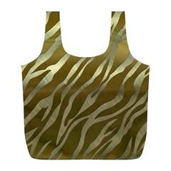 Metal Gold Zebra  Reusable Bag (L)