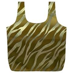 Metal Gold Zebra  Reusable Bag (XL)