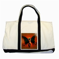 Eyes Wide Open  Two Toned Tote Bag
