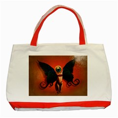 Eyes Wide Open  Classic Tote Bag (Red)