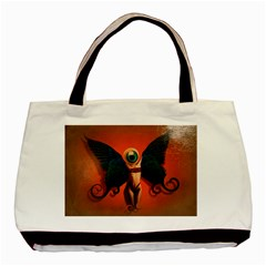 Eyes Wide Open  Twin Sided Black Tote Bag