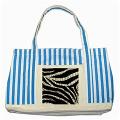 Spoiled Zebra  Blue Striped Tote Bag
