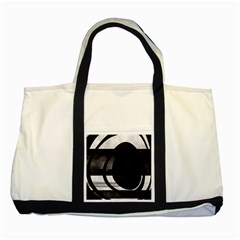 Black Hole  Two Toned Tote Bag